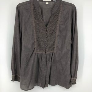 Coldwater creek long sleeved blouse